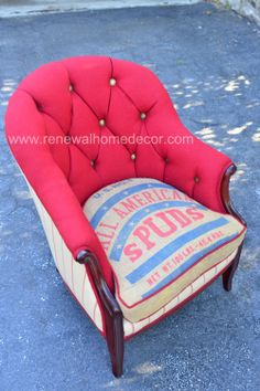 Vintage upholstered accent chair Samantha's by ReNewalHomeDecor, $1,100.00