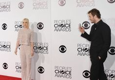 Pin for Later: Anna Faris and Chris Pratt's Cutest and Most Hilarious Red Carpet Moments Ever  He snapped his own red carpet picture of Anna when they attended the 2014 People's Choice Awards together in LA.