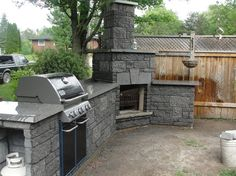 Outdoor BBQ Fireplace @ Pin Your Home