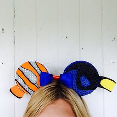 Finding Nemo Disney Inspired Ears Nemo Ears by ToNeverNeverland