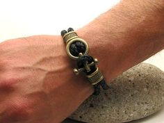 EXPRESS SHIPPING Men's.leather.bracelet. от eliziatelye на Etsy