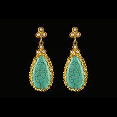 Turquoise Drop Earrings | Fab.com