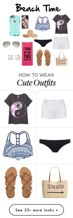 """""""Beach Time"""" by colisawyer on Polyvore featuring Ally Fashion, Billabong, Style & Co., Paul Smith, Ray-Ban, OtterBox, Eugenia Kim, women's clothing, women and female"""