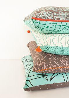 www.designteam.co.za Home Decor Shops, Home Decor Items, Scatter Cushions, Throw Pillows, Interior Design Studio, Soft Furnishings, Color Patterns, Balloons, Fabrics