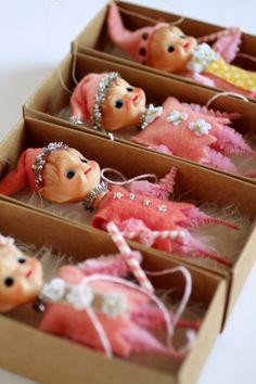 The Candyland Sugarplum Christmas Elves Vintage mini dolls