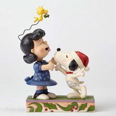 Jim Shore Peanuts Collection Snoopy Kissing Lucy Mistletoe Christmas 4052720 NIB