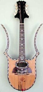 Mandolins, Hollow-arm, lyre style. P. Dabiero, Milan TradeMarked: Octochordis Dabiero Piccolo size