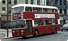 Old Bus Photos - Old bus Photos and informative copy Edinburgh Sights, Buses And Trains, Train Truck, Double Decker Bus, Bus Coach, London Bus, Busse, Union Jack, Big Trucks