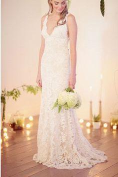 Lace Wedding Gown/ / /Bridal dress / Long Vintage by ksbridal, $1200.00