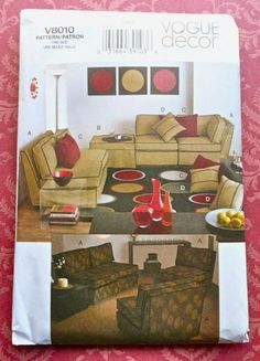 Vogue 8010  Sectional Slipcovers Pattern including by Fragolina, $4.00