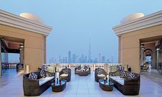 Pullman Dubai  Though the majority of this brunch takes place indoors, the terrace at Sanabel offers a pretty impressive vantage point over Sheikh Zayed Road, the sandy expanses of Al Barsha, the Burj Al Arab on the coast and (on a clear day) Downtown Dubai and the Burj Khalifa. Once you've had your fill of the views, make sure you check out the chocolate room.