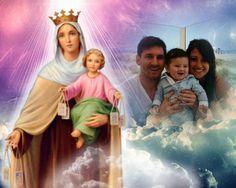 Hoy se celebra el día de la Virgencita del Carmen para todos su devotos, seguidores y fieles este bello fotomontaje con la virgen del carmen protectora de los conductores y de todos los que invoquen su ayuda, en este nuevo marco católico con la virgen estarás en el cielo y con el niño jesus. ...