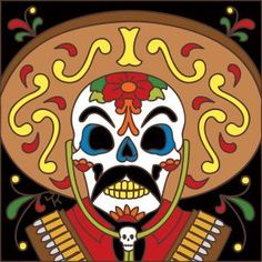 Hand-painted in the USA by a small, family-run business, our Day of the Dead ceramic tiles are both striking and spectacular in color and design. Place one anywhere in your home as a unique and personal accent, as in an entryway, hallway, kitchen or bath. Made from thick, high fired ceramic, these tiles can easily be installed outdoors as well. Depicting scenes of a joyful and active afterlife, they're also great for Day of the Dead or Halloween celebrations. Matching multi-tile murals are…