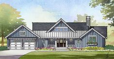Craftsman Ranch House Plan with Finished Lower Level - 970062VC   Architectural Designs - House Plans