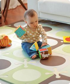 cute foam playroom tiles from skip hop - for kids room