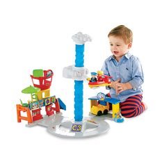 """Fisher-Price Little People Spinnin' Sounds Airport - Fisher-Price - Toys """"R"""" Us Fisher Price Baby Toys, How To Make Toys, Best Kids Toys, Toys R Us, All The Way Down, Christmas 2015, Christmas Ideas, Pretend Play, Toddler Toys"""