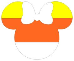 Personalized Candy Corn Halloween Minnie OR Mickey Mouse DIY Iron on Decal. $7.00, via Etsy.