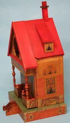 Side view of Keyhole Dollhouse Kit No. 4