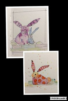 By Katie Waller I'm taking an online watercolor class from Danielle Donaldson. Love her style! These bunnies came from the class.