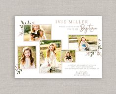 Your place to buy and sell all things handmade Baptism Invitations, Wedding Invitations, Invites, Christmas Collage, Christmas Cards, Miller Homes, Color Correction, Lds, High Quality Images