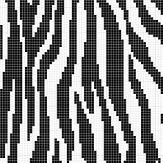 zebra print stitch for tapestry crochet Crochet Zebra, Bead Crochet, Tapestry Crochet Patterns, Bead Loom Patterns, Knitting Charts, Knitting Stitches, Cross Stitch Designs, Cross Stitch Patterns, Broderie Bargello