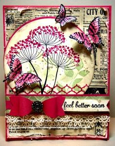 Stamping with Julie Gearinger: Summer Silhouettes- An Assortment, Color and Sketch Challenge :-) Stampin' Up! Summer Silhouettes, Papillon Potpourri, Gorgeous Grunge, Express Yourself for the AYSI083 Assortment Challenge, CMCC67 Color Challenge and FM203 Sketch Challenge,
