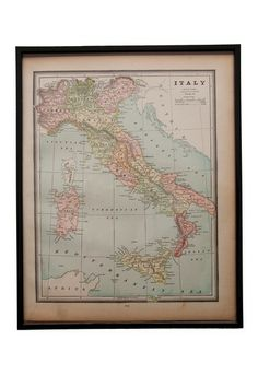 Vintage Original Hand Colored Map of Italy Circa 1820 by Vintage Favs on @HauteLook