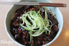 Korean Food: Jajangmyun (Noodles with Black Bean Sauce)   Hip Foodie Mom