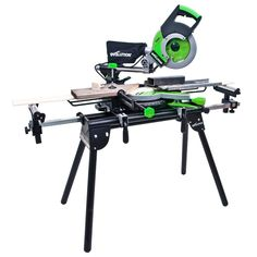 Folding Mitre Saw Bench Stand with Extensions Height Adjusting Table Workstation Miter Saw Bench, Mitre Saw Stand, Table Saw, Evolution, Extensions, Home And Garden, Power Tools, Mystery, Arms