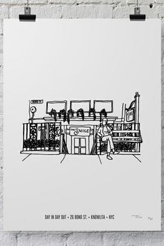 Your Favorite NYC Restaurants, Illustrated #refinery29  The Smile
