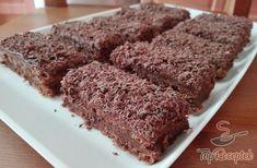 Csokoládés-diós szelet   TopReceptek.hu Paleo Dessert, Bolu Cake, Latte, Cakes And More, Rice Recipes, Cake Cookies, Banana Bread, Oven, Food And Drink