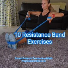 10 Resistance Band Exercises for Fit Mums - Health and Fitness - Resistance band workout at home. This fat burning total body workout will burn fat and build muscle - Fitness Workouts, Fitness Workout For Women, Body Fitness, Physical Fitness, At Home Workouts, Fitness Motivation, Health Fitness, Glute Workouts, Fitness Gear