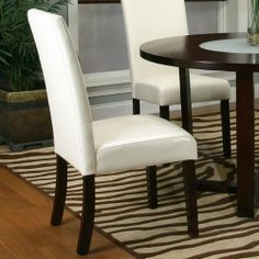 Kemper Parson's Chair (Ivory) (Set of 2) 25310-13 by Cramco. $299.00. Free Shipping. Set of 2 Chairs Espresso Finish Hardwood Solids & Veneers Ivory Faux Leather Seat and Back Assembly Required Dimensions: 20L x 19D x 39H Note: Cramco items ship in 5-10 business days