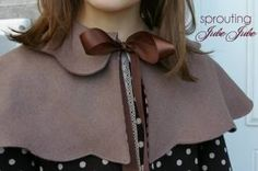 Scalloped Caplet by the Handmaiden's Cottage | YouCanMakeThis.com