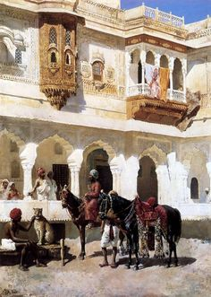 Leaving For The Hunt by Edwin Lord Weeks