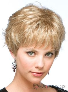 The Fresh Short Straight Blonde Human Hair Wigs Short Human Hair Wigs, Short Hair Cuts, Short Hair Styles, Short Pixie, Face Shape Hairstyles, Fringe Hairstyles, How To Wear A Wig, Long Face Shapes, Monofilament Wigs