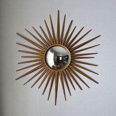 Vintage Large Round Wall Mirror Entryways Pinterest
