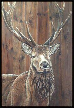Pin by rachel hallock on wood animals çizim, hayvanlar, tabl Pallet Painting, Pallet Art, Painting On Wood, Painting & Drawing, Moose Pictures, Wood Animal, Deer Art, Art And Illustration, Wildlife Art