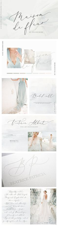 Luxury Fine Art Typography. A modern calligraphy font with contemporary, sophisticated accents perfect for weddings!