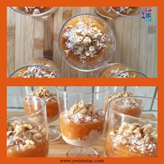 Dessert with persimmon and oatmeal