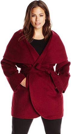 8f3a25b568e T Tahari Women s Plus-Size Marla Oversized Coat