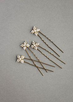5f69b262f783a Crystal wedding bridesmaid rhinestone silver bridal hair pins ...