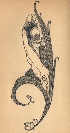 pique-nique.  Harry Clarke 1889-1931.  Carnet de Faust.