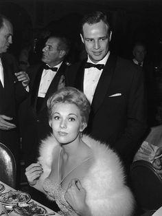 ON THE TOWN - Marlon Brando with date Kim Novak