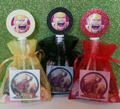 12 Clash of Clans Birthday Party Favor Bags Goody Bubbles Stickers Video Game #Unbranded