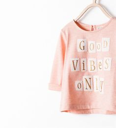 PATCHES LETTERS T-SHIRT-Tops-Baby girl-KIDS-SALE | ZARA United States