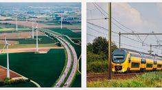 Holanda es el primer país del mundo con trenes 100% eólicos - https://www.renovablesverdes.com/los-trenes-holanda-funcionan-al-100-energia-eolica/