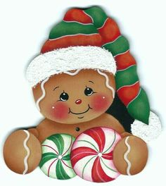 Dressed for Santa Gingerbread Painting E-Pattern Gingerbread Christmas Decor, Gingerbread Ornaments, Gingerbread Decorations, Christmas Rock, Felt Christmas, Christmas Projects, Holiday Crafts, Christmas Decorations, Christmas Ornaments