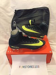 Nike Mercurial Superfly V CR7 FG  Soccer Cleats Seaweed/Volt 852511-376 SZ 11.5