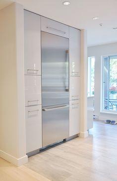 modern built in fridge. #kitchen designed by @coordinatedkb
